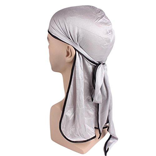 n Stil Hijab Turban Chiffon Sommer Atmungsaktiv Hut Imitation Seide Hut für Haarausfall Chemo Silber (Piraten-hut-stile)