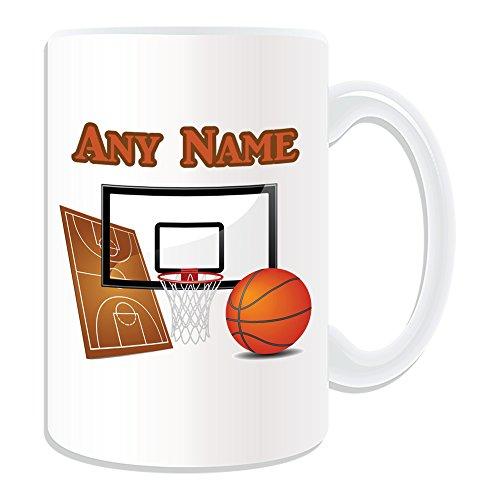 Nachrichten, Meinem Konto Die In (Geschenkmitteilungsfeld Große Tasse, Motiv Basketball sport-blanc-nom Nachricht auf dem Tasse unique-panneau Basketball, NBA Slam Dunk)