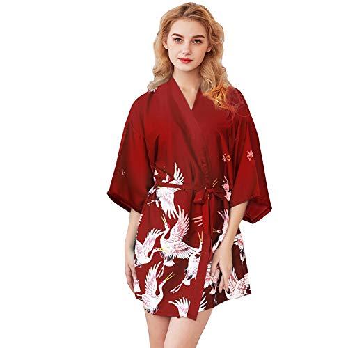 Batas Mujer Seda Kimono Japones Ropa Dormir Verano