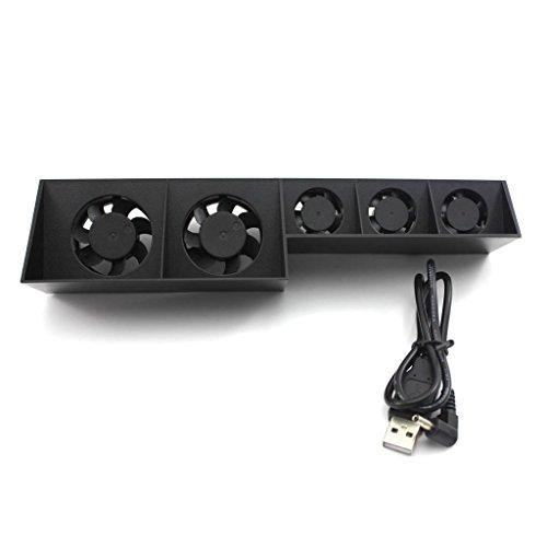HuntGold - 5 ventiladores de refrigeración para Playstation 4 con USB