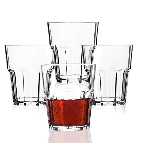 PEYOU Vasos Agua, 25 cl Vasos Agua Cristal Plástico