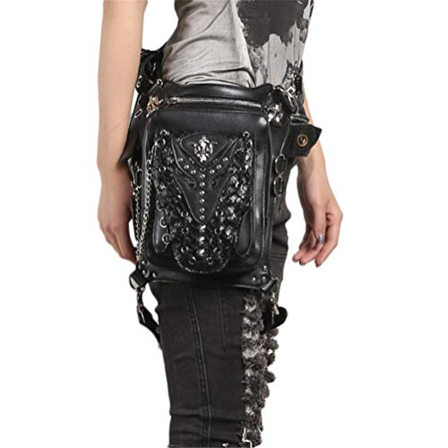 LSLY Steampunk Taille Pack, Halloween Unisex One-Shoulder Crossbody Splicing Pocket One-Shoulder Crossbody Splicing Pocket