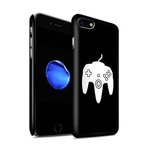 STUFF4 Matte Snap-On Hülle / Case für Apple iPhone 8 / Weiß PS4 Muster / Spielsteuerung Kollektion Weiß N64