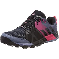 Adidas Kanadia 8.1 TR W, Zapatillas de Trail Running para Mujer, Varios Colores (Raw Steel/Off White/Real Pink 0), 38 2/3 EU