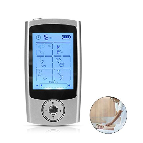 Electronic Rechargeable 16 Modes Adjustable Pain Relief Muscle Stimulator Massager mit TENS Unit 16 Output Fuse