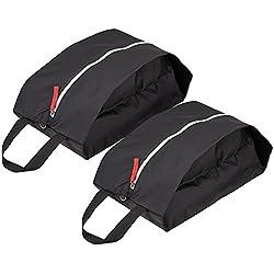 e40b2b4e9 TRAVELTO Set de 2 Bolsas para Zapatos de Nylon Resistente con Cierre Ideal  para Viajes -