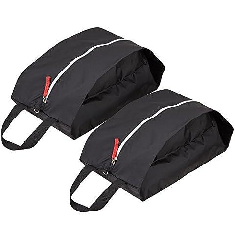 TRAVELTO 2er Set Schuhtaschen / Organizer-Taschen aus leichtem und strapazierfähigem Nylon - mit Reißverschluss - ideal für Reisen - inklusive 2 Jahren Geld-zurück-Garantie - Shoe Bag / Boot Bag ..