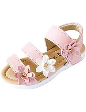 K-youth® Sandalias de Vestir Niña Moda Zapatos Bebe Niña Verano Zapatos de Cuero Niña Flor Zapatos Planos Zapatos...