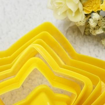 6pcs Stern Kuchen Ausstechformen Back Cheese Prägeform