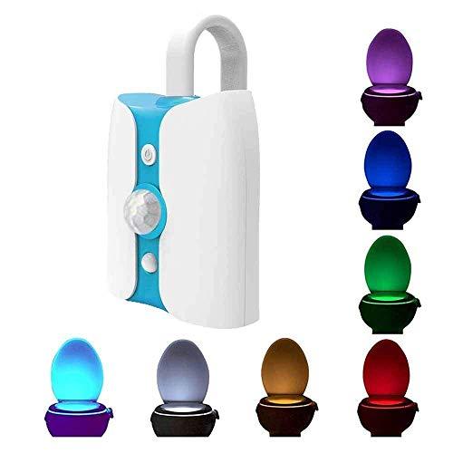 MiniCase® WC-Nachtlicht UV-LED-Sensor, Bewegungsaktivierung, UV-Sterilisation, Anti-Virus-Toilettenlicht, 8 Farbwechsel, Badleuchte (verbesserte Version), 2 Stück -