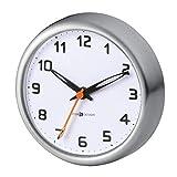 mDesign Reloj de baño con ventosa – Reloj de pared fácil de colgar – El accesorio para el baño perfecto – Adherente e impermeable – Imprescindible para saber la hora en la ducha