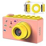 Samoleus Macchina Fotografica per Bambini, Fotocamera Digitale Subacquea Impermeabile, Digital Camera Kids Videocamera HD 1080P / 8MP / Zoom Digitale 4X / LCD da 2 Pollici (Rosa)