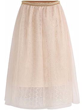 Hilo de Seda QPSSP-Lei, larga falda High-Waist Cuerpo Superior de Mujeres