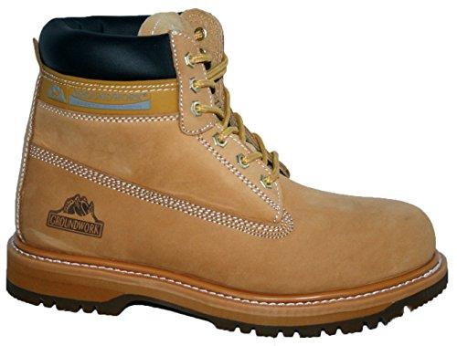 Footwear Sensation - Calzado de protección para hombre, color Amarillo, talla 41