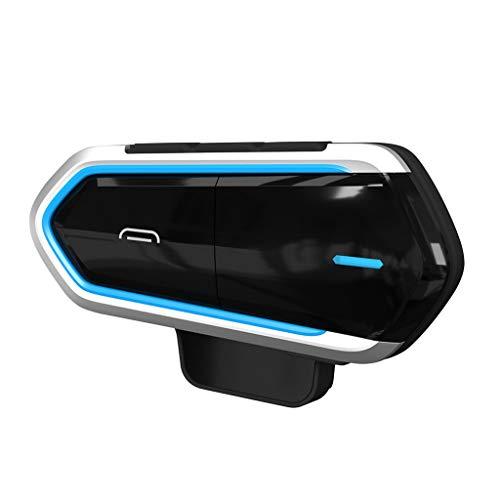 Almencla 800 Meter Drahtlose Bluetooth-Sprechanlage Motorrad-Sturzhelm Bluetooth Intercom Headset im Freien Radfahren,Skifahren Bike Bluetooth