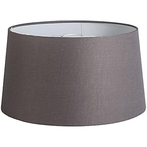 QAZQA Lino Pantalla 40cm cónica DS E27 lino gris marrón , Redonda / Cónica Pantalla lámpara colgante,Pantalla lámpara de