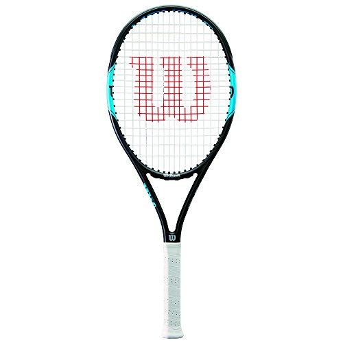 Wilson Tennisschläger, Monfils Pro 100, Ambitionierte Freizeitspieler, Griffstärke L3, Blau/Navy, - Wilson Damen Tennisschläger