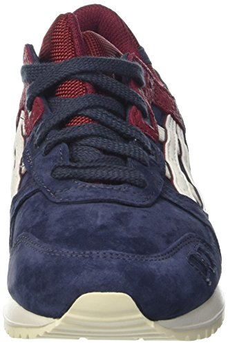 Asics Lyte Iii, Baskets Basses Mixte Adulte bleu rouge