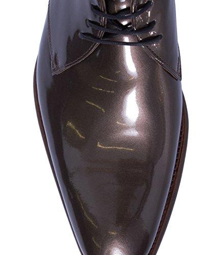 FLORIS VAN BOMMEL Herren Schuhe Schnürer Schnürschuhe Schnürhalbschuhe - Wolle - braun middle brown patent