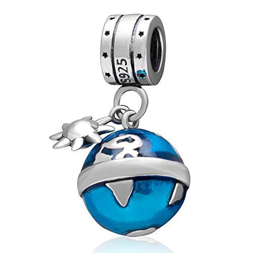 ocean-blue-earth-mappamondo-ciondoli-autentico-argento-sterling-925dangle-bead
