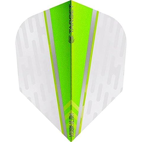 Target Vision Ultra Dart Flights–mit Chevron Grip–Weiß Flügel grün–10Sets (30)–mit Darts Ecke gebogen (Dart Flügel)
