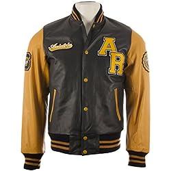 Cuero de vaca Auténtico Hombres MDK Universidad del equipo de béisbol del estilo de la chaqueta