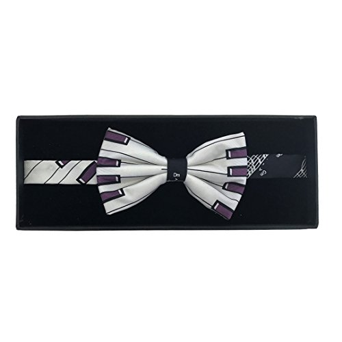 Purple Keys Keyboard Fancy Silk Bow Tie