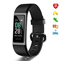 LETSCOM Fitness Trackers with Heart Rate Monitor, Activity Tracker with Sleep Monitor, IP68 Waterproof Pedometer Step Counter Watch, Color Screen Smart Bracelet Watch for Kids Women Men