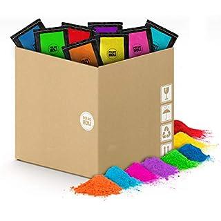 Pack of Holi Powder – 80 Bags of 100 grams - 8 Colors