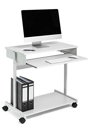 Durable 319710 Poste Informatique Mobile avec Tablette Haute Coulissante + Tablette Basse Fixe Dimensions (L x H x P) 75 x 75 x 45 cm Finition Gris/Gris