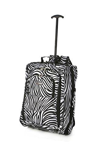 5 Cities , Trolley Unisex, Zebra (Multicolore) - TBP023-855 ZEBRA