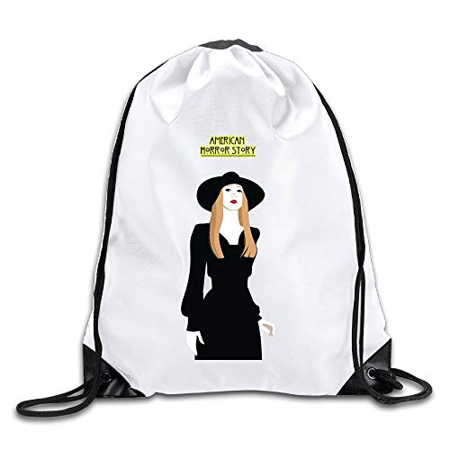 Backpacks Casual Travel Bags Shoulder Pouch Beam Port Backpack Tote Canvas Bag Storage Bag One Sized White Zoe Benson American Horror Story Fan Art Medium Drawstring Pouch