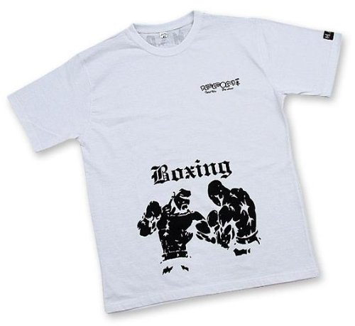 M.A.R International Ltd. Box-T-Shirt MMA T-Shirt Kickboxen Top Thai Boxen Outfit Muay Thai Bekleidung Kickboxen Ausrüstung Weiß S weiß