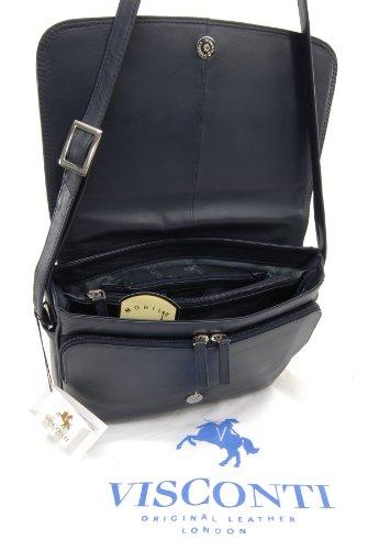 Borsa organiser Visconti / Borsa a tracolla 03190 - Marrone Blu navy