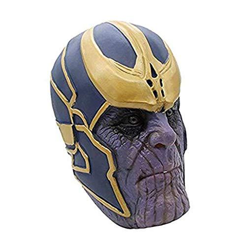 SSRS Thanos Maske Avengers 3: Unendlichkeits-Krieg Cosplay Haube Held Latex Maske Halloween Horror Infinity Gauntlet Glove (Color : Mask) (Held Maske Latex)