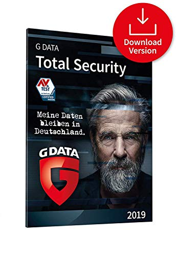 G DATA Total Security 2019 | Download| 1 PC | 1 Jahr | Windows | Erstklassiger Rundumschutz durch Firewall & Antivirus | Trust in German Sicherheit Fan Drive Media