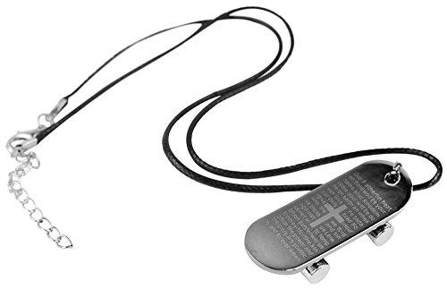 niceeshop(TM) Titan Stahl Schild Mit Bibel Schrift Und Schieberförmig Anhänger (Bibel Kostüme Für Erwachsene)