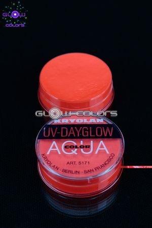 Kryolan - Fard à l eau Aquacolor fluo 8g ROUGE
