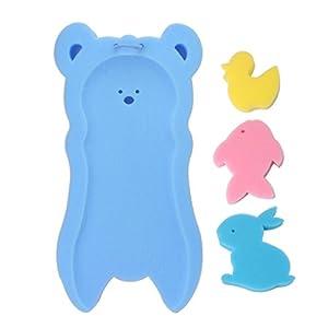 Guoyy Newborn Anti-Slip Sponge Pad Baby Bath Tub Bathing Pad Infant Shower Baby Care (Blue)