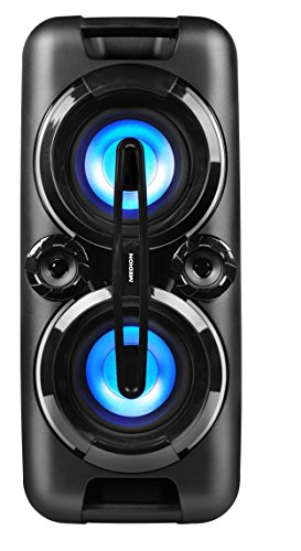 MEDION LIFE P67013 MD 43438 Party-Soundsystem mit Bluetooth 2.1 (Kompaktanlage, 440 Watt, 2 x 22 Watt RMS, PLL UKW Stereo Radio, 2x USB, AUX, Mikrofonanschluss, Karaoke, farbige LED-Lichter) schwarz