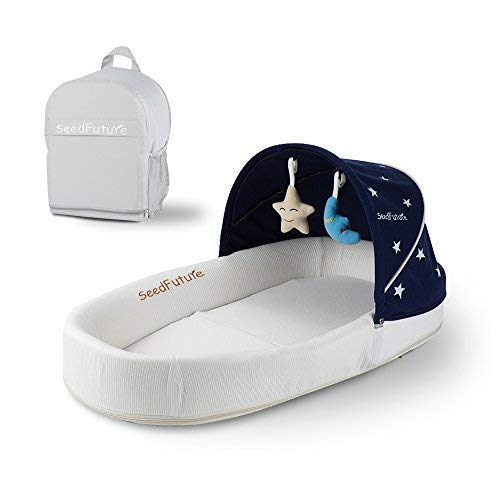 Cestino letto portatile, nido neonato, culla per il viaggio Portable Infant Sleeper (blu)