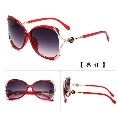 Sunyan Sonnenbrille, weibliche Tide, neue Sterne, Augen, rundes Gesicht, Koreanisch elegante Gläser, Big Face, Frauen Persönlichkeit Sonnenbrille, helles Rot