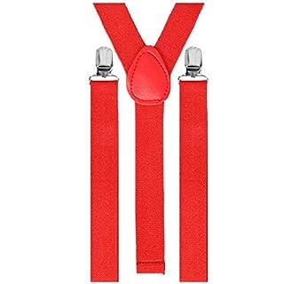 TechSmile Damen Herren Hosenträger Schulterriemen Elastische Y-Form Erwachsene Unisex Hose Träger Clip Verstellbar Hosen Träger 100*2.5 CM