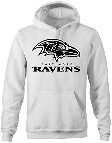Prilano Herren Hoodie - Baltimore-Ravens - M - Weiß