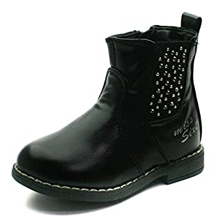 Miss Sixty  Ms013,  Mädchen Chelsea Boots , Schwarz - schwarz - Größe: 25 EU Kinder