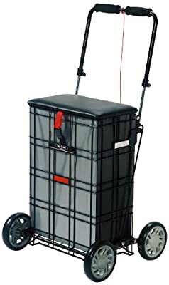 NRS Healthcare Liberator Shop A Seat Wheeled Shopping Bag Trolley (Eligible for VAT relief in the UK)