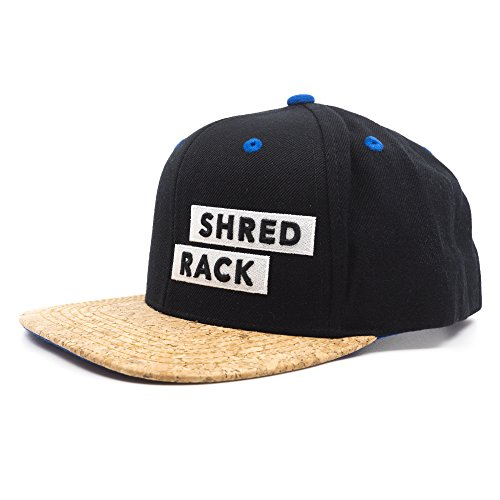 Snap back Cap - SHRED RACK (schwarz) (Cap Racks Für Baseball-caps)