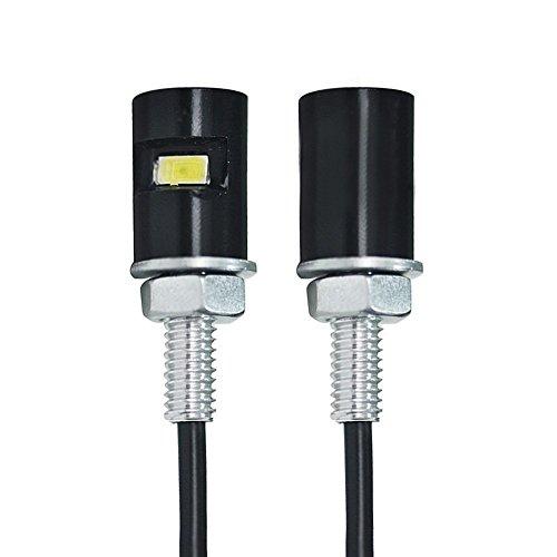2x 12V weiß Kennzeichenleuchte Kennzeichenbeleuchtung Birne Licht für Motorad(55cm)