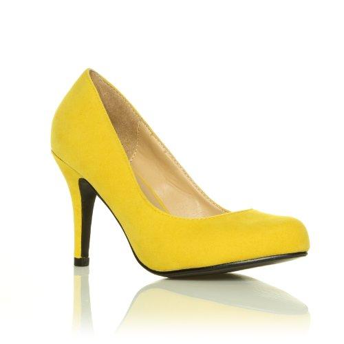 ShuWish UK - Escarpins classiques en daux daim avec talons aiguilles Daim jaune