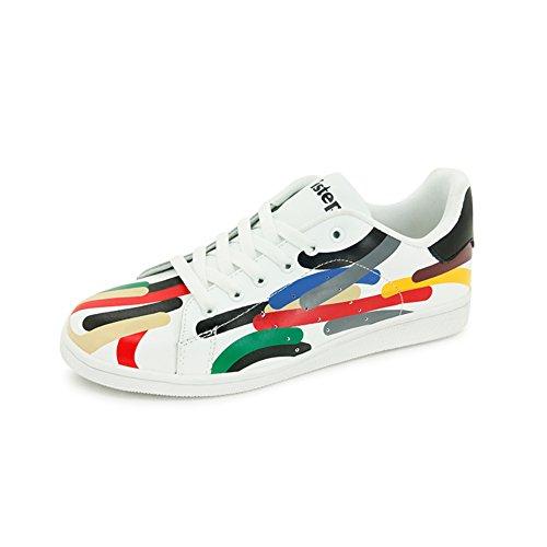 Lady chaussures de fond plat/Joker basse en cuir des chaussures de sport/Chaussures occasionnelles de respirantes B